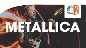 Regenbogen Zwei Metallica Logo