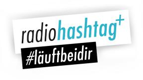 radiohashtag+ - #läuftbeidir Logo