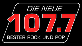 DIE NEUE 107.7 - BESTER ROCK UND POP Logo