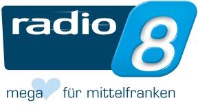 Radio 8 - Megaher(t)z für Mittelfranken Logo