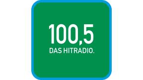 100,5 DAS HITRADIO. Logo