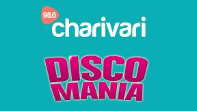 98.6 Charivari Discomania Logo
