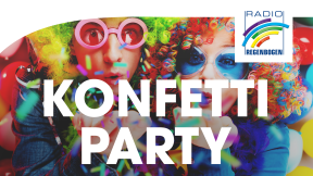 Radio Regenbogen Konfetti-Party Logo