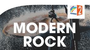 Regenbogen Zwei Modern Rock Logo